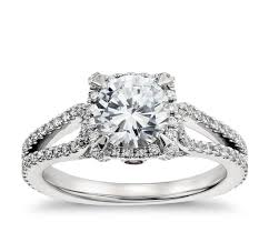 monique lhuillier halo diamond engagement ring in platinum blue nile
