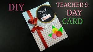 Diy Teacher S Day Greeting Card How To Make Cwm 8 Youtube