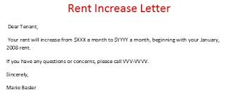Notice Of Rent Increase Form Rent Increase Letter