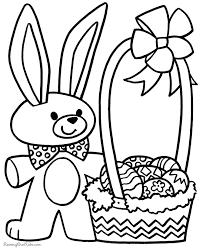 Preschool Coloring Sheet For Easter 012