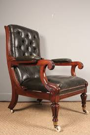 superb william iv leather library reclining chair