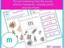 It includes 60+ extra pages. M Sound Phonics Bundle Phonics Resources Phonics Worksheets Cvc Words Teaching Resources