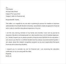 Financial Aid Application Letter Sample Filename Reinadela Selva