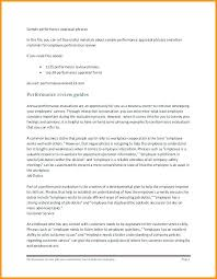 Sample Annual Performance Review Employee Self Appraisal Example Annual Evaluation Examples