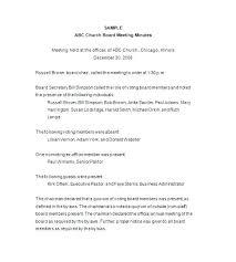 Sample Board Meeting Agenda Change Advisory Minutes Template Board