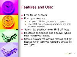 Features And Use Free For Job Seekers Post Your Resume Link Your