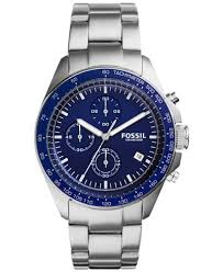 fossil men s chronograph sport 54 stainless steel bracelet watch fossil men s chronograph sport 54 stainless steel bracelet watch 44mm ch3030