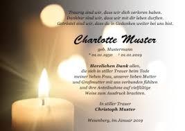 Danksagungskarten Trauer Dankeskarten Beerdigung Danksagungen