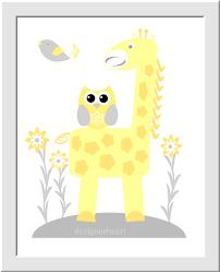 Baby Monogram Wall Decor Personalized Baby Nursery Wall Art Gray Yellow Grey Elephant