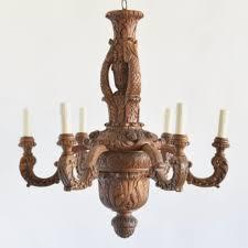 antique wooden chandelier c11 large vintage carved wood