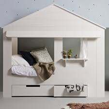 unique childrens furniture. KIDS HOUSE CABIN BED In White Pine With Optional Storage Drawers Unique Childrens Furniture