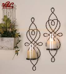 metal wall sconce decoration candle