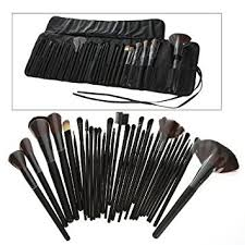science purchase 78vk14322 32 piece black cosmetic makeup brush set with black bag