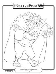 Small Picture Disney Beauty And The Beast Gaston and Lefou Coloring Page