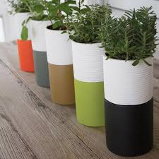 Dual Tone Herb Planters