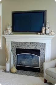 Fireplace mantel tv stand