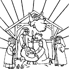 Small Picture Christmas Angel Coloring Pages scene at the mangerstable