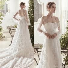Beaded Designer Wedding Gowns Discount 2019 Lace Designer Wedding Dresses Strapless Tulle Appliques Beaded Wedding Dress With Long Sleeve Jacket Custom Made Vestidos De Novia
