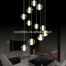 crystal ball chandelier light modern led pendant lighting