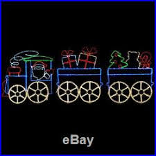 large led santa christmas toy train premium rope lights outdoor decoration new