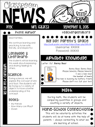 Class Newsletter Importance Of Classroom Newsletter Prekpartner