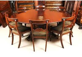 round dining tables for 8 vintage 6 round table 8 bespoke chairs ti dining tables 8 seater