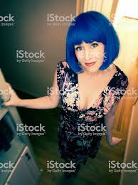 Coiffure Punk Rock Fille Bleu Photos Et Plus Dimages De