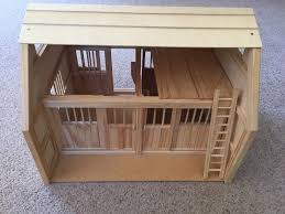 breyer horse barn 2 stall natural wood 1 of 2free