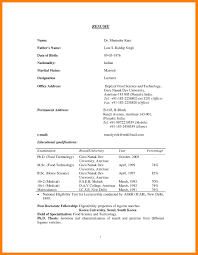 Adorable Resume Proforma For Teaching Job With Sample Resume For