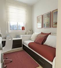 Maximize Space In Small Bedroom Modern Small Bedroom With Efficient Furniture Including Trundle