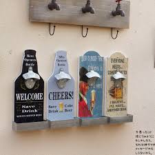 Decorative Wall Mount Bottle Opener Vintage American Country Wall Mounted Bottle Opener Bar Cafe 2
