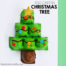 Carton Christmas Tree CraftChristmas Crafts With Egg Cartons