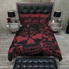 full size of red black buffalo plaid duvet cover red and black collage skull duvet bedding