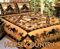 ... Wild Horses Bronco Horse Theme Bedding Comforter Sets Pink Boys Cowboy  Rodeo