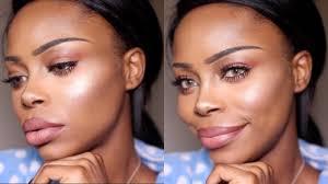 best contouring makeup for dark skin highlight contour routine for dark skin you