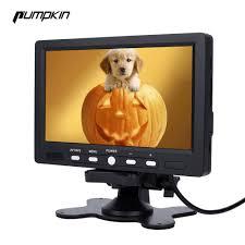 Us 68 58 Pumpkin 7 Inch Lcd Display Screen Car Monitor Rear View Dvd Vcr Led Lights Night Vision Rear View Reversing Camera Monitor In Car Monitors
