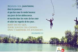 Ecclesiaste 119 Verset Biblique Dieu Jeunesse Heureux Coeur