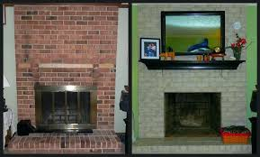 exciting painting red brick fireplace painting a red brick fireplace painting red brick fireplace grey