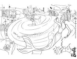 Small Picture Barbie Merliah lost in the Whirlpool coloring page More Barbie