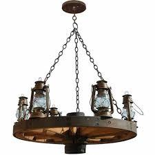 wagon wheel chandelier western style lighting lc521