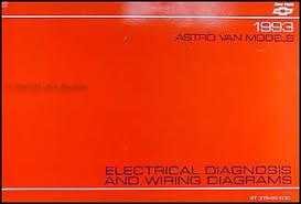 1993 chevy astro van wiring diagram manual original