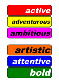 word wall positive personality traits