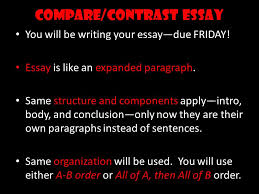 compare contrast essay ppt video online  compare contrast essay