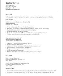 General Objectives For A Resume