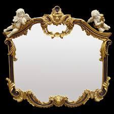 Barockspiegel 2 Red Gold Mirror Baroque White Vintage Music