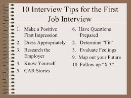 Tips For Interview 10 Interview Tips For The High School Student
