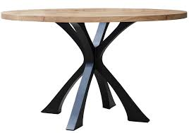 stunning wood and metal round dining table dining room ideas round metal dining table