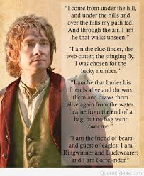 bilbo baggins adventure image with quote