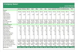 excel income statement trading profit and loss account and balance sheet in excel format
