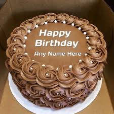 Chocolate Flower Cake Images With Name